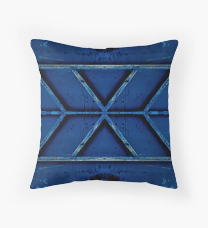 Blue symmetry  Throw Pillow