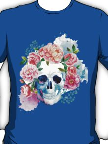 Skull flower art T-Shirt