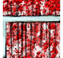 The Red Curtain Photographic Print