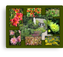 English Garden Collage Canvas Print