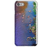 Ducks on patrol | waterscape photography iPhone Case/Skin