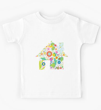 Floral colorful abstract  Kids Tee