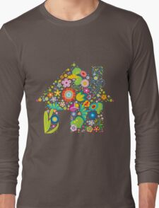 Floral colorful abstract  Long Sleeve T-Shirt