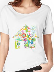 Floral colorful abstract  Women's Relaxed Fit T-Shirt