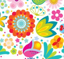 Floral colorful abstract  Sticker
