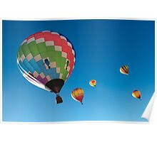 Balloons on Blue Poster