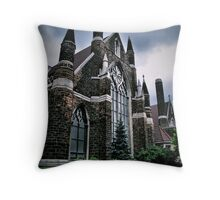 As The Temples Rise Throw Pillow