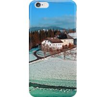 Village scenery in winter wonderland | landscape photography iPhone Case/Skin