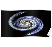 Galaxy Earth Poster
