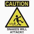 Caution: Snakes will Attack!! by kozality
