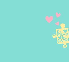 Pastel Best Friends Forever Connection Puzzle (right) by XOOXOO