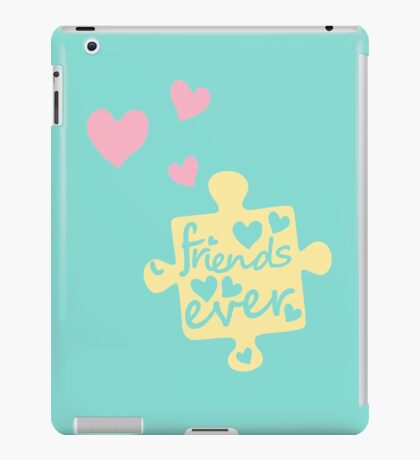 Pastel Best Friends Forever Connection Puzzle (right) iPad Case/Skin
