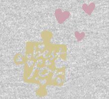 Pastel Best Friends Forever Connection Puzzle (left) Kids Clothes
