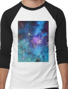 RHAPSODY OF STARS in G Major Men's Baseball ¾ T-Shirt