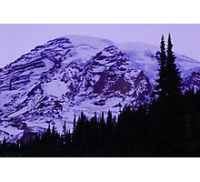 Lavender Twilight at Mt. Rainier Photographic Print