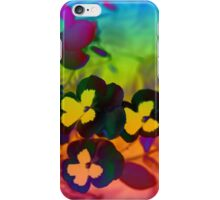 floral rainbows end iPhone Case/Skin