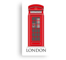 Red London Telephone Box Canvas Print