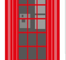 Red London Telephone Box Sticker