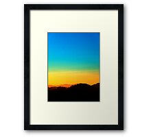 Colorful sundown scenic view | landscape photography Framed Print