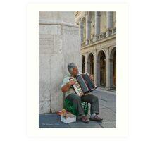 Accordian Man - Rome, Italy Art Print
