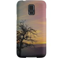 Old tree and colorful sundown panorama | landscape photography Samsung Galaxy Case/Skin