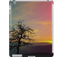 Old tree and colorful sundown panorama | landscape photography iPad Case/Skin