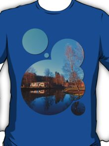 Winter mood on the river II   waterscape photography T-Shirt