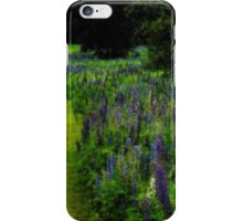 Vibrant Bend in the Lupine iPhone Case/Skin
