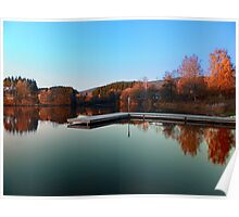 Romantic evening at the lake III | waterscape photography Poster