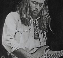 David Gilmour Fan art by Marina Coffey