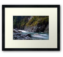 West coast river Framed Print