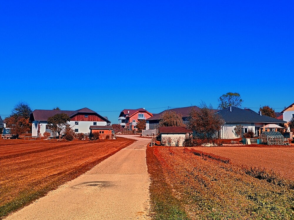Peaceful countryside village scenery | landscape photography by Patrick Jobst