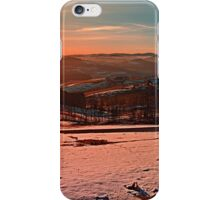 Colorful winter wonderland sundown II | landscape photography iPhone Case/Skin