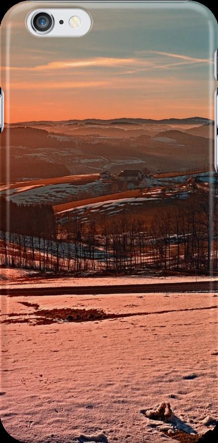 Colorful winter wonderland sundown II | landscape photography by Patrick Jobst