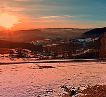 Colorful winter wonderland sundown II | landscape photography by Patrick Jobst