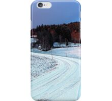 Country road through winter wonderland II | landscape photography iPhone Case/Skin