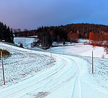 Country road through winter wonderland II   landscape photography by Patrick Jobst