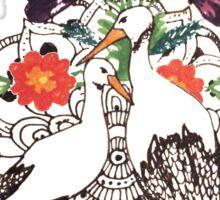 Polish Storks Folk style with Mandala Sticker