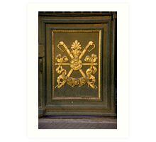 Coat Of Arms Door Art Print