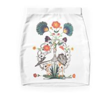 Polish Storks Folk style with Mandala Mini Skirt