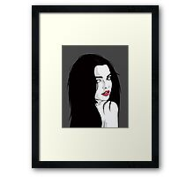 Brown eyes Framed Print