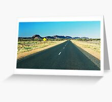 outback floodway Greeting Card