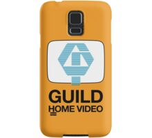 Guild Home Video 1980 black on yellow Samsung Galaxy Case/Skin