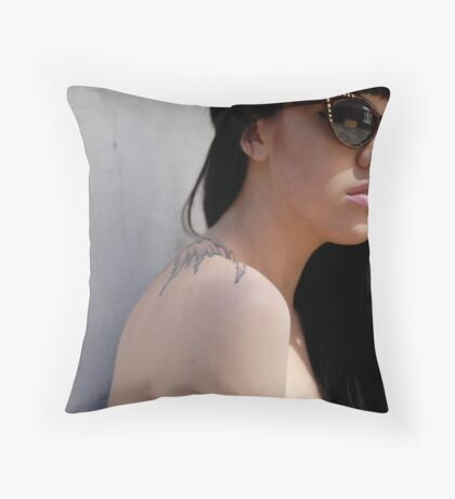 It's Cold In The Shade Throw Pillow