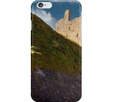 ballybunion castle on the cliff face iPhone Case/Skin