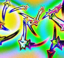 Star Struck Neon Hippy by rokinronda
