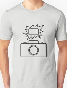 Camera SLR Flash_outline T-Shirt
