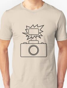 Camera SLR Flash_outline Unisex T-Shirt