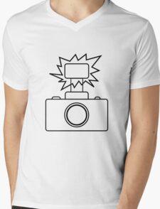 Camera SLR Flash_outline Mens V-Neck T-Shirt