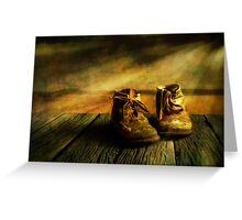 First shoes Greeting Card
